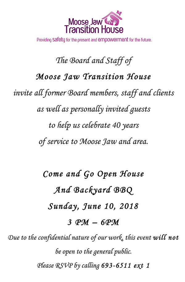 Invitation to Open House 2018